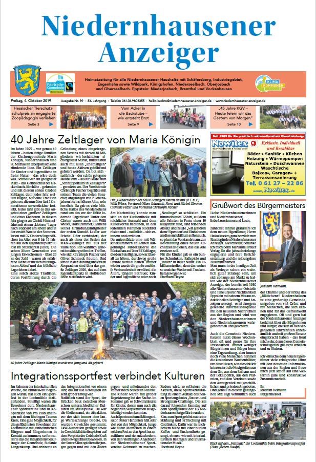 Niedernhausener Anzeiger Ausgabe 39 vom 04.10.2019